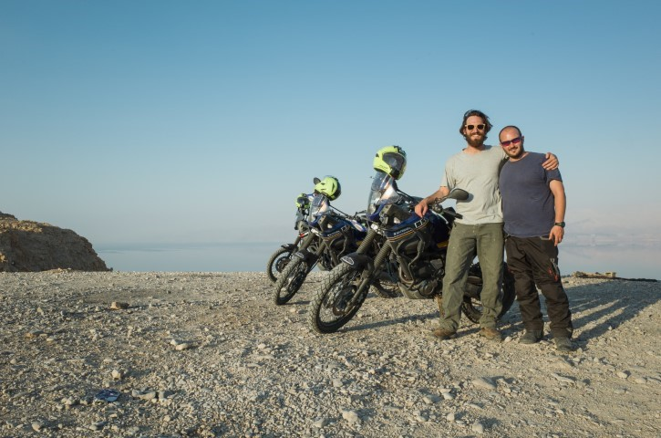 Riding motorcycle with friends