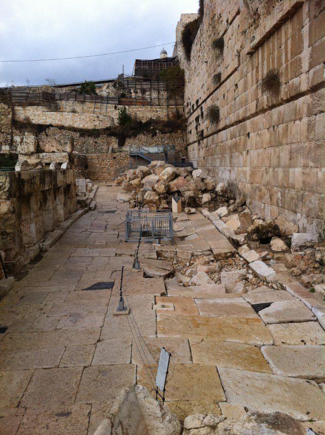 Western Wall Davidson center Jerusalem old city (Custom)